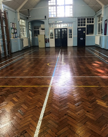 Hall floor after 4